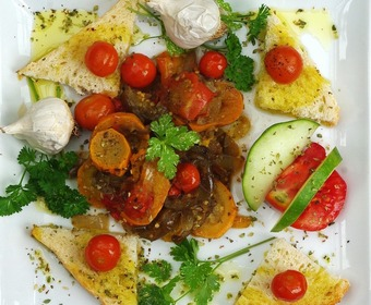 Servera grönsaker
