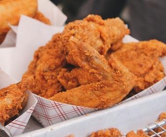 hur friterar man kyckling