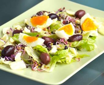 sallad oliver ägg PS