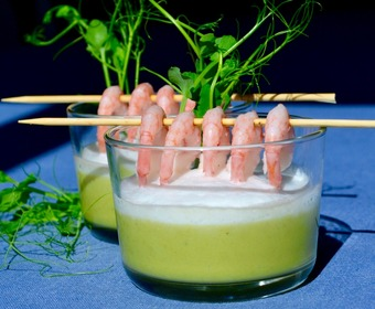 grön ärtsoppa, crème ninon PS