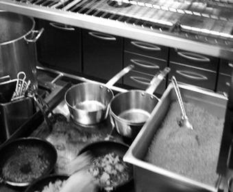 kock i restaurangkök