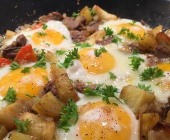 ägg, egg rancheros