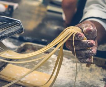 färsk pasta, tryffel, secreto iberico