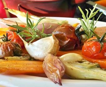 hackade grönsaker