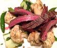 Flankstek på sauterade grönsaker (LCHF...)