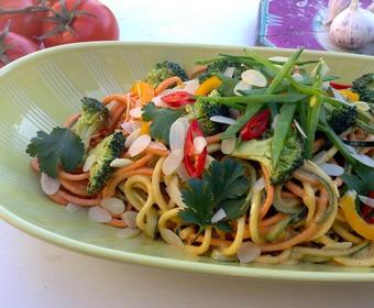 Grönsaksspagetti, Raw food