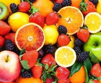 Frukt och bär dessert PS