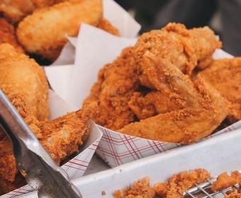 friterad kyckling, kycklingvingar