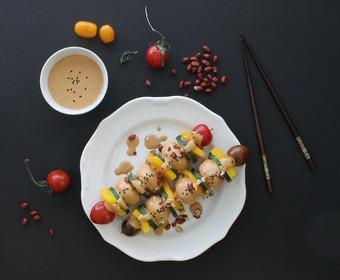 Raw Food - grönsaksspett